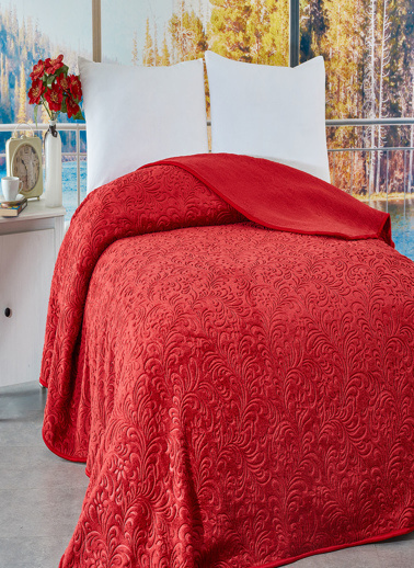Komfort Home Tek Kişilik Emboss Battaniye 165x220 CM Renkli